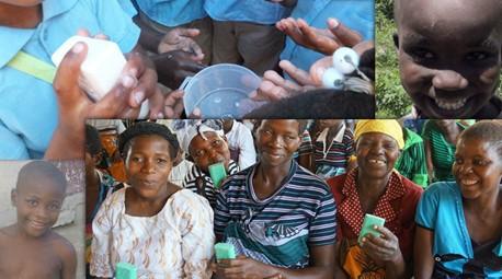 Reciclando sabonete e salvando vidas